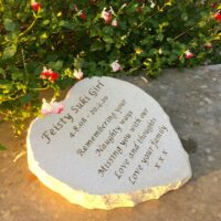 Limestone Pet Memorial Heart for Suki