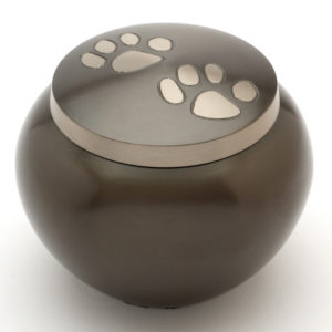 The Chertsey Black Pewter Pet Cremation Urn
