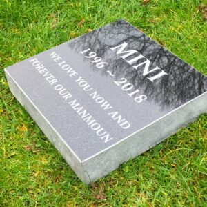 black granite polished tablet pet memorial