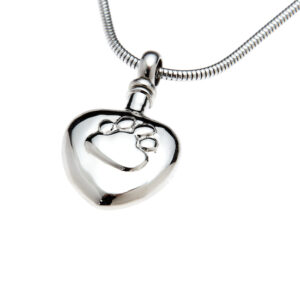 pet ashes heart pendant