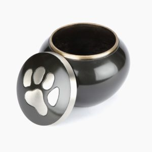 The Heddon Black Pewter Pet Cremation Urn