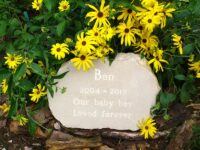 pet memorial stone garden boulder
