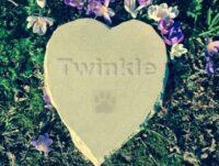 Limestone Pet Memorial Heart for Twinkle