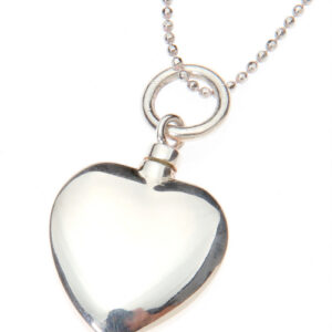 Heart pet ashes pendant