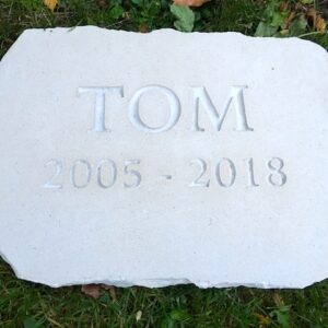 limestone tablet pet memorial tom