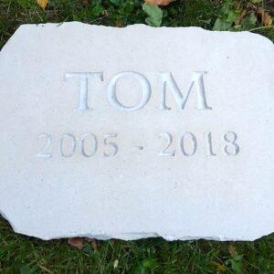 limestone tablet pet memorial tom