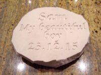 limestone oval pet memorial sam