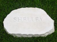 limestone oval pet memorial shelly