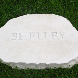 limestone oval pet memorial shelly