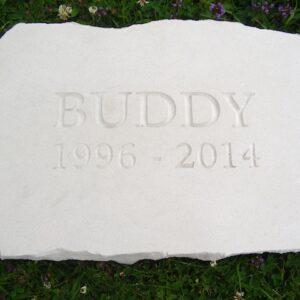 limestone tablet pet memorial buddy