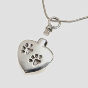pawprint pet ashes pendant