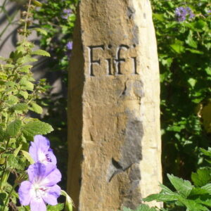 pet memorial basaltic column fifi