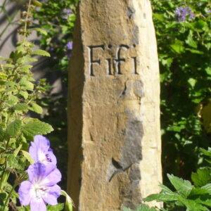pet memorial basaltic column fifi