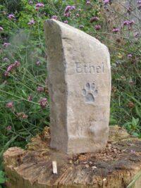 pet memorial basaltic column ethe