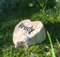 rustic heart marble pet memorial