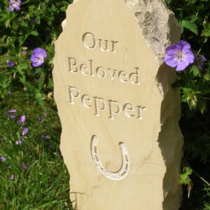 rustic standing stone pet memorial pepper