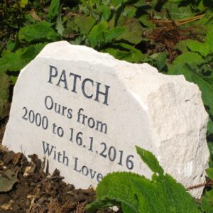 Limestone Boulder Pet Memorial for Patch