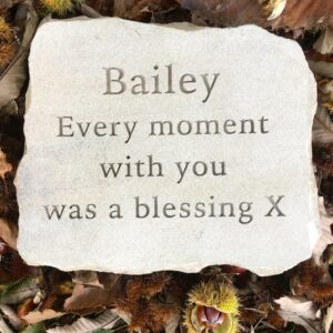 Sandstone Pet Memorial Tablet for Bailey